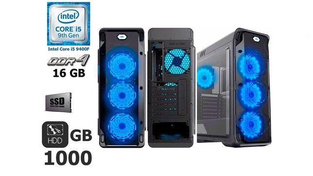 GameMax Starlight B-Blue Tower i5-9400F 16 GB DDR4 120 GB SSD GTX 1650