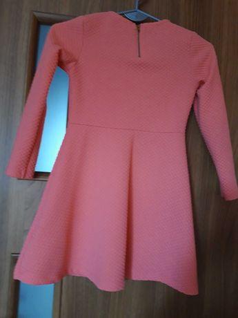 sukienka lososiowa 128-134