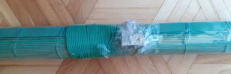 Roleta bambusowa zielona seledynowa NOWA