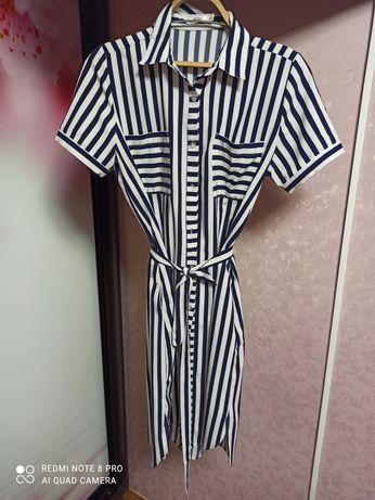 Платье летнее в полоску XL р.