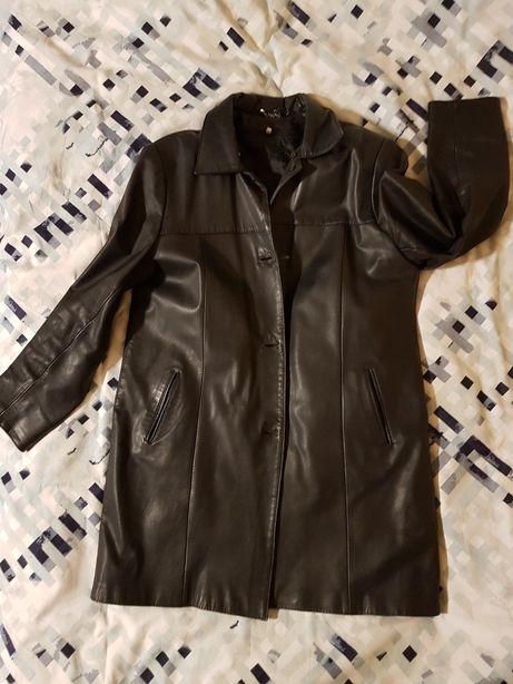 Długa kurtka damska skóra naturalna z podpinką DARMOWA WYSYŁKA