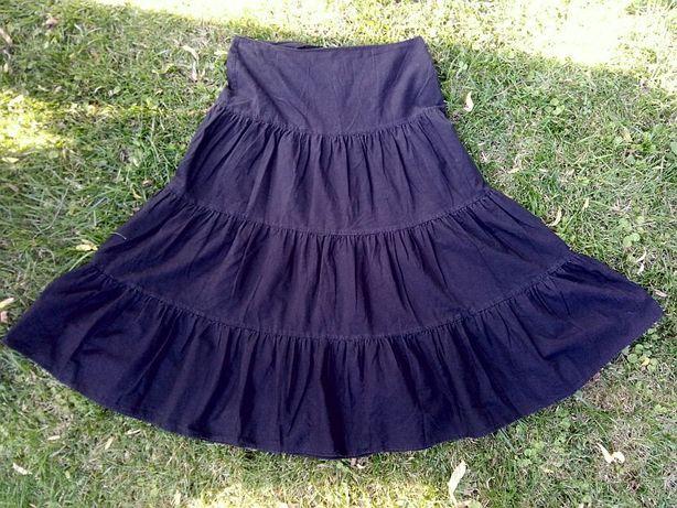 Spódnica Orsay 40 L 42 czarna gothic czerń czarna długa maxi maksi