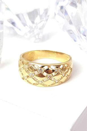 Pierścionek nowy złoty próba 585 R13