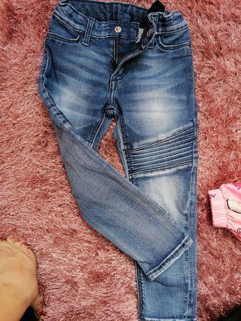 Spodnie jeansy dla dziewczynki rozmiar 98