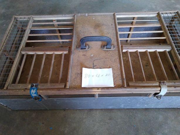 Transportadora de pombas (cestos) alumínio e madeira