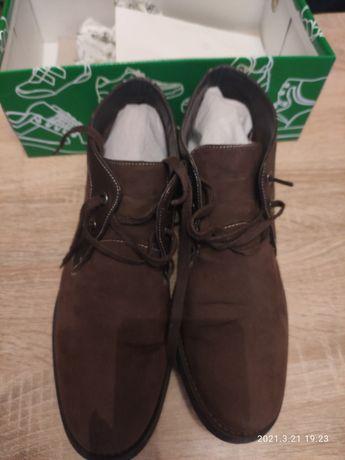 Ботинки мужские коричневые демисезонные