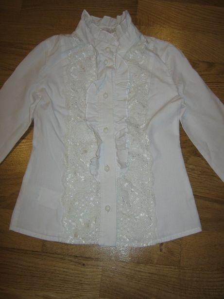 Хлопковая блуза (рубашка) на девочку 4-6-ти лет