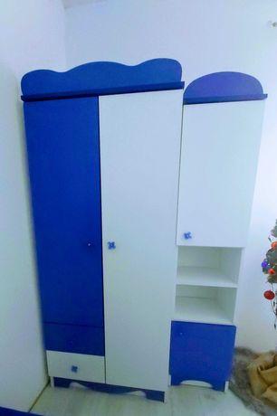 Meble dziecięce zestaw biurko szafa szafka słupek