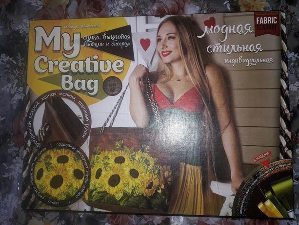 Набор для вышивки лентами My creative Bag. Подсолнухи.