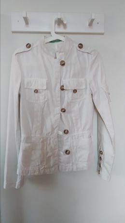 Casaco branco estilo militar