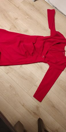 Czerwona sukienka Happymum rozm. M
