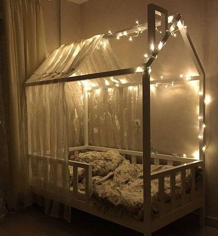 Кровать домик массив ольхи детская.ліжко будиночок арт 24