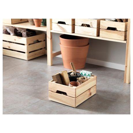 IKEA KNAGGLIG Caixas de pinho NOVAS 23x31x15 cm