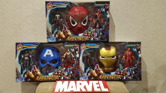 Новинка!Большой подарочный набор Супергерои Марвел, свет, звук.
