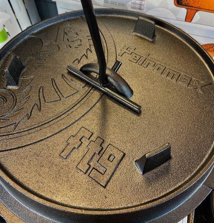 kociołek żeliwny PETROMAX poj.7,5l - model ft9-t z płaskim dnem