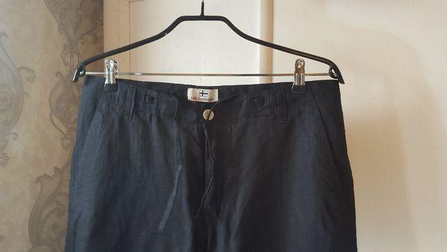 Spodnie męskie lniane Nils Sundstrom - czarne