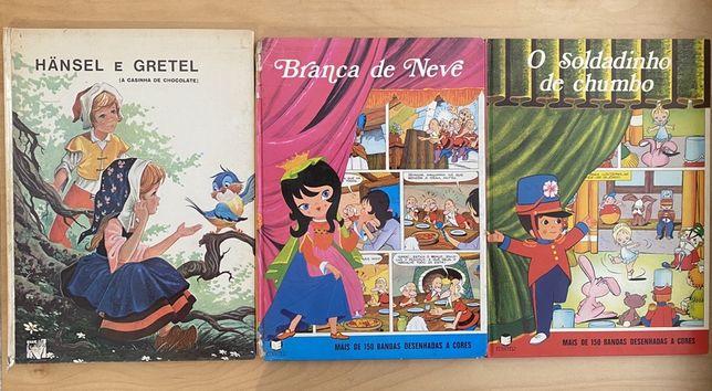Livros c/+ 40 anos Soldadinho / Branca Neve / Hansel Gretel