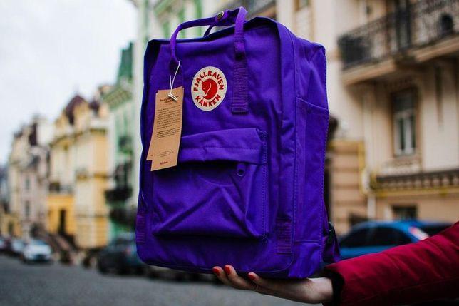 Fjallraven kanken Classic рюкзак с лисой Фьялравен Канкен Фиолетовый
