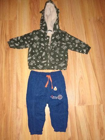 Bluza i spodnie ocieplane 74