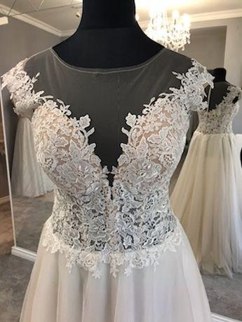 Model 479M50 suknia z ekspozycji 50 ecru-beż 3000 złotych