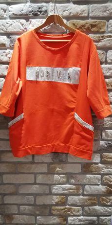 Bluza pomarańcz z cyrkoniami