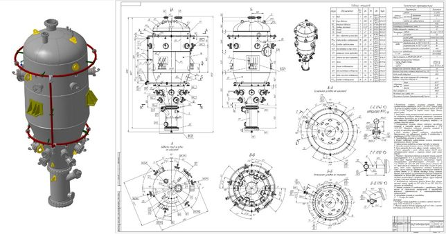 оцифровка чертежей, разработка КМД, нестандартное оборудование