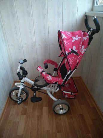 Велосипед-коляска, трёхколесный велосипед с родительской ручкой