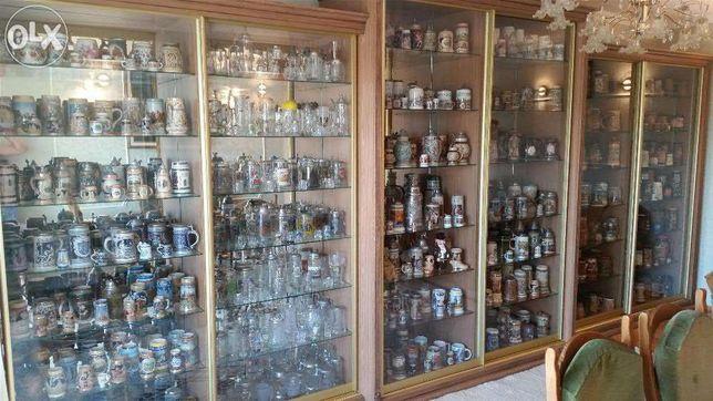Продається велика колекція пивних кружок і кухлів,біля 2000-х екзем.