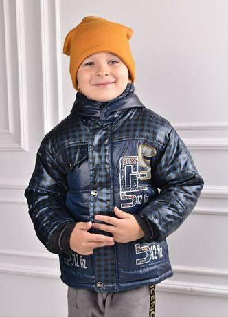Детская утеплённая куртка на осень-весну на 2-3 года