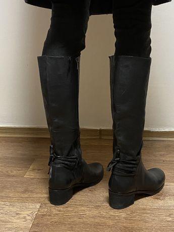 Сапоги из толстой кожи jones bootmaker (zara, acne, uterque, cos, wang