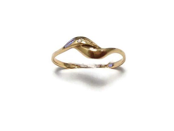 złoty pierścionek p 585 1,10g roz. 16