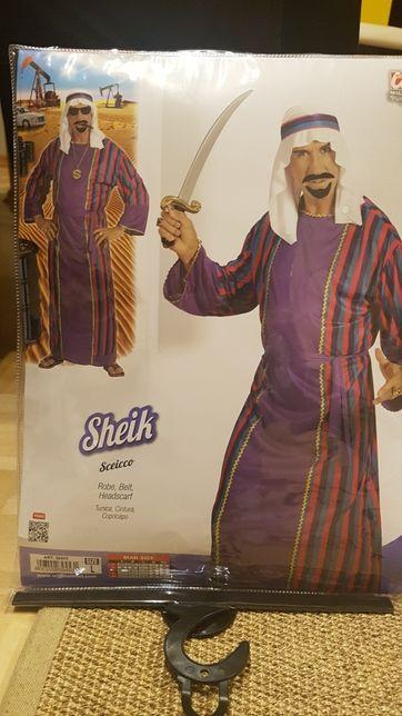 Przebranie, kostium sheik Arabski bogacz rozmiar L dorosłych
