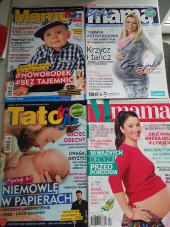 Poradniki 4 szt gazety ciąża