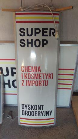 Reklama świetlna, kaseton rama 46 cm x 125 aluminum.