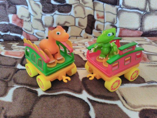 Динозавр с вагоном, игровой набор Jazwares Dino Train
