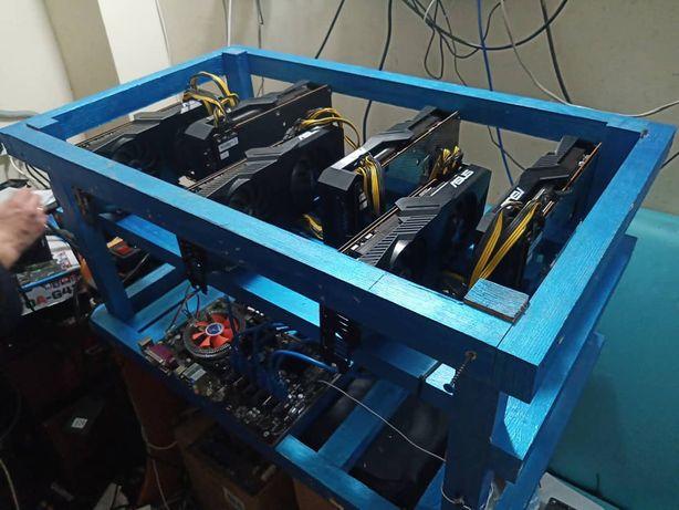 Майнинг ферма 336 MHs Asus Dual Radeon 5700xt