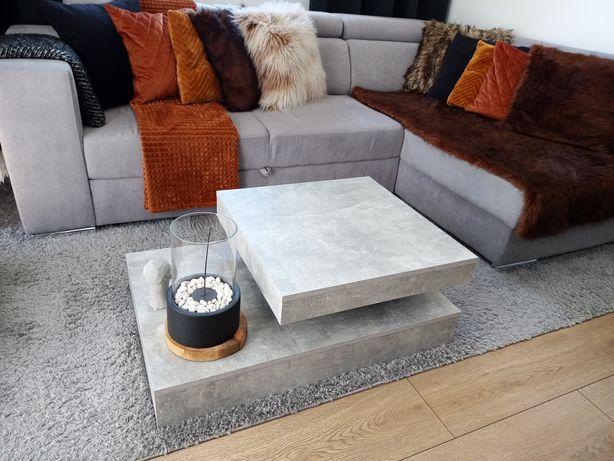 Stolik kawowy w kolorze betonu