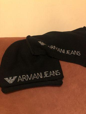 Комплект шапка шарф armani оригінал