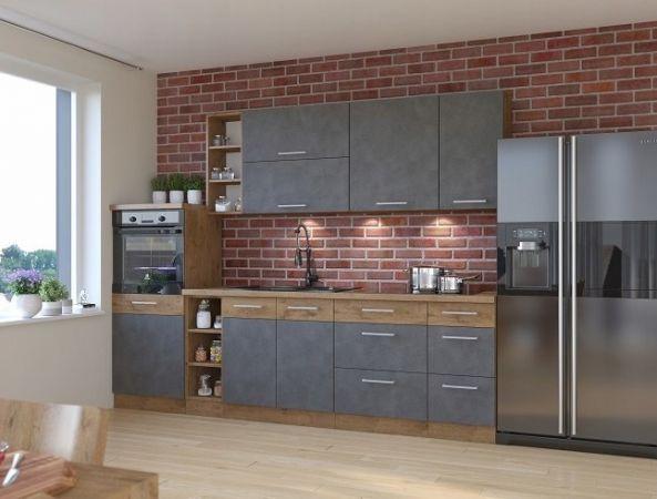Nowe nowoczesne Meble kuchenne Kuchnia VIVA SZARY MAT systemowa wymiar