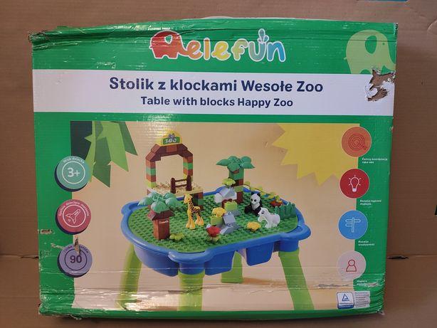Elefun Stolik z klockami jak LEGO Duplo Wesołe zoo