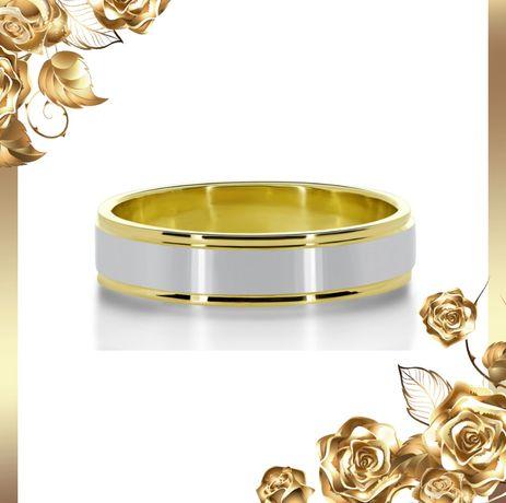 Elegancka Złota Obrączka Ślubna 4MM
