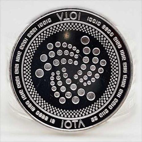 Сувенирна монета IOTА (биткоин, лайткоин, эфир, даш bitcoin)