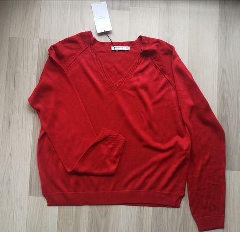 Czerwony sweter sweterek nowy z metką dzianinowy