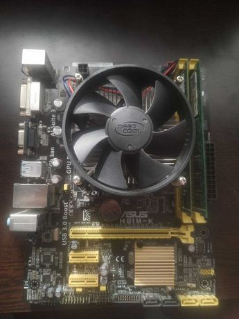 Комплект материнская плата + процессор + ОЗУ + кулер (i5 4460)