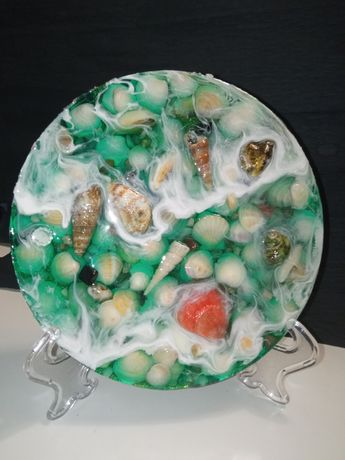 Декоративная тарелка.Море.Эпоксидная смола.