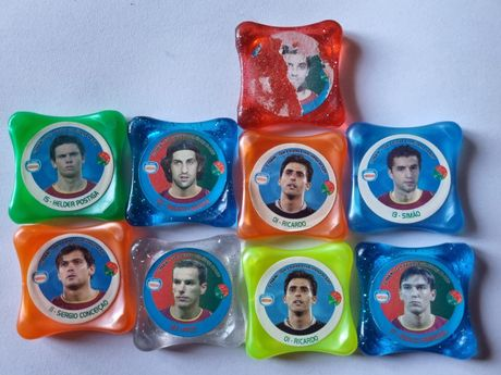 Tazos futebol Nestlé Panini waps euro Raros
