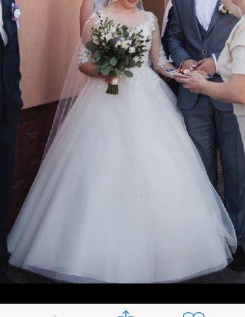 Весільне плаття айворі