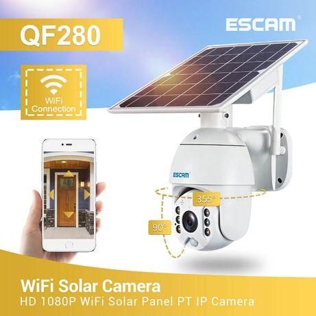 Câmera IP Vigilância • 1080P • 360º • WI-FI • Sem Fios • Solar+Bateria