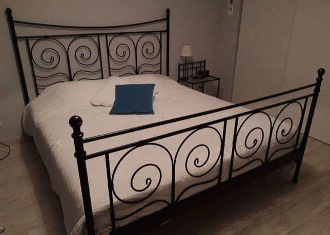Noresund ikea łóżko 180 x 200 + materace metalowe