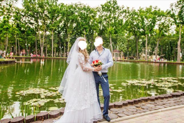 Свадебное платье и фата по супер- цене!!!
